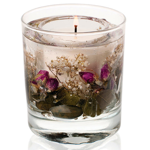 'English Rose' Stoneglow Gel Tumbler Candle