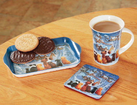 Tea Time Gift Set - Snowy Rooftops