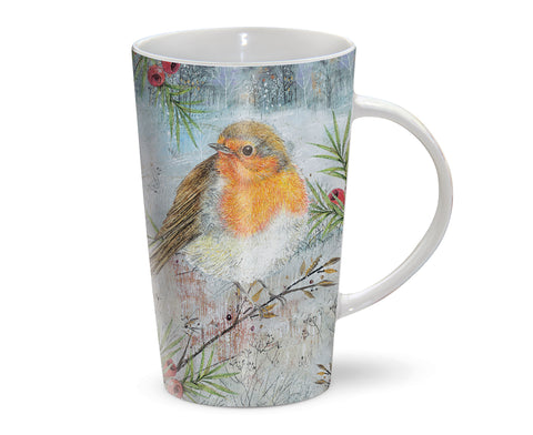 Latte Mug - Winter Robin