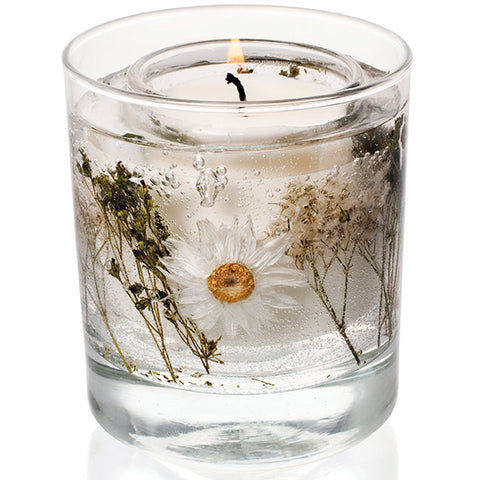 'Cotton Flower' Stoneglow Gel Tumbler Candle