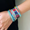 Home Addictions: Lifestyle - Beaded Ethnic Embroidered Bracelet- Reflect, by  BE BES