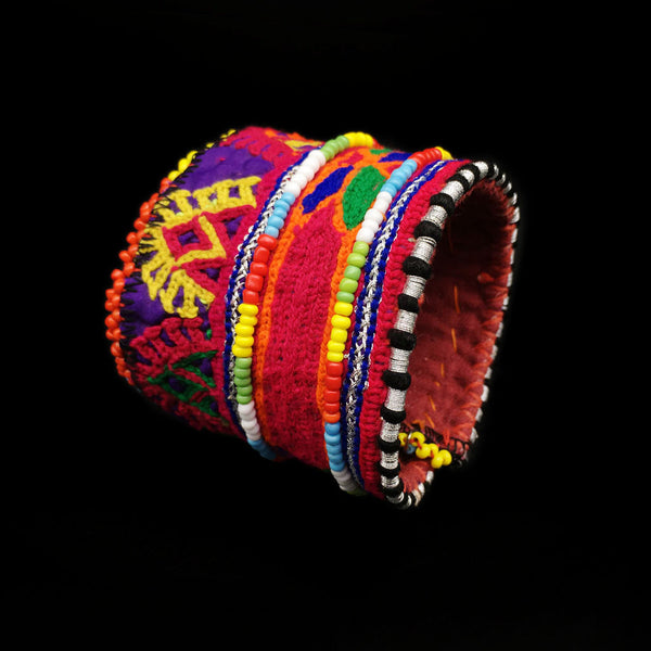 Beaded Ethnic Embroidered Bracelet- Tribal