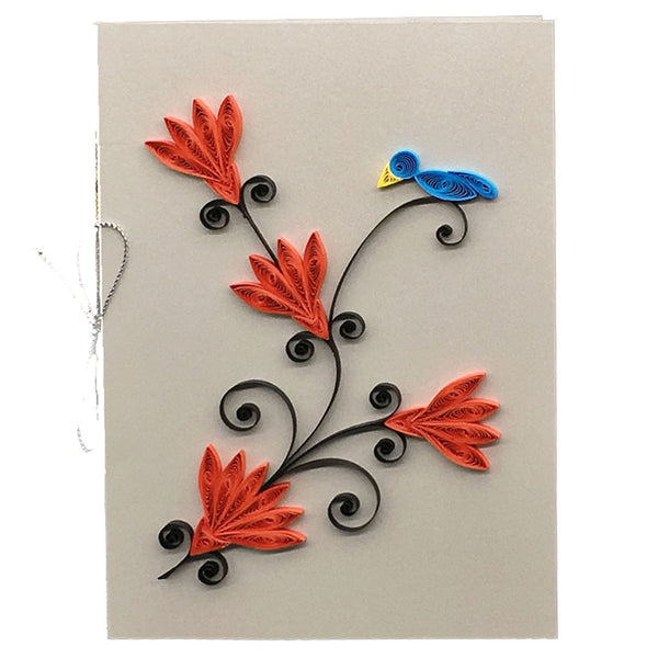 Home Addictions: Lifestyle - Quilling Card- Blue Bird, by  Beautiful Paper Quilling