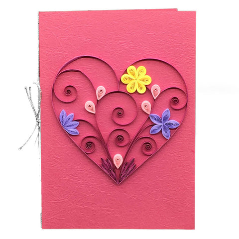 Home Addictions: Lifestyle - Quilling Card- Heart/ Pink, by  Beautiful Paper Quilling