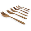 Home Addictions: Utensils - Teak Wood Dinner Fork Set (6pcs), by  Chabatree