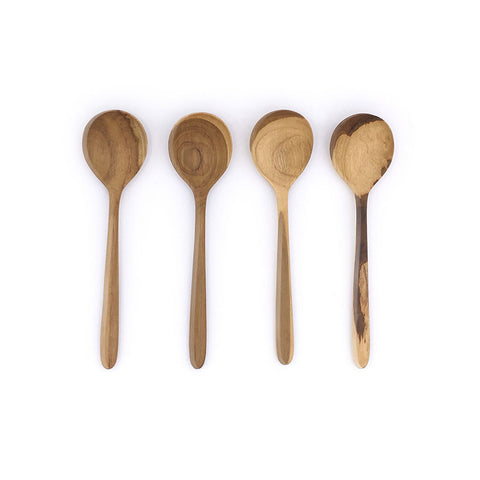 Home Addictions: Utensils - Teak Wood Soup Spoons (4pcs), by  Chabatree