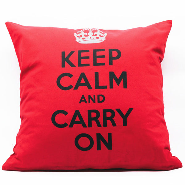Home Addictions: Cushion Covers - Keep Calm & Carry On Cushion Cover, by  Culture Club