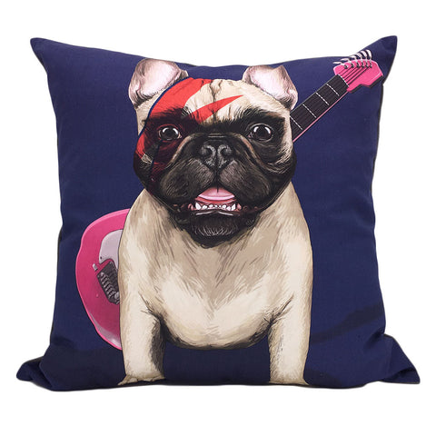 Home Addictions: Cushion Covers - Rock Pug Cushion Cover, by  Culture Club