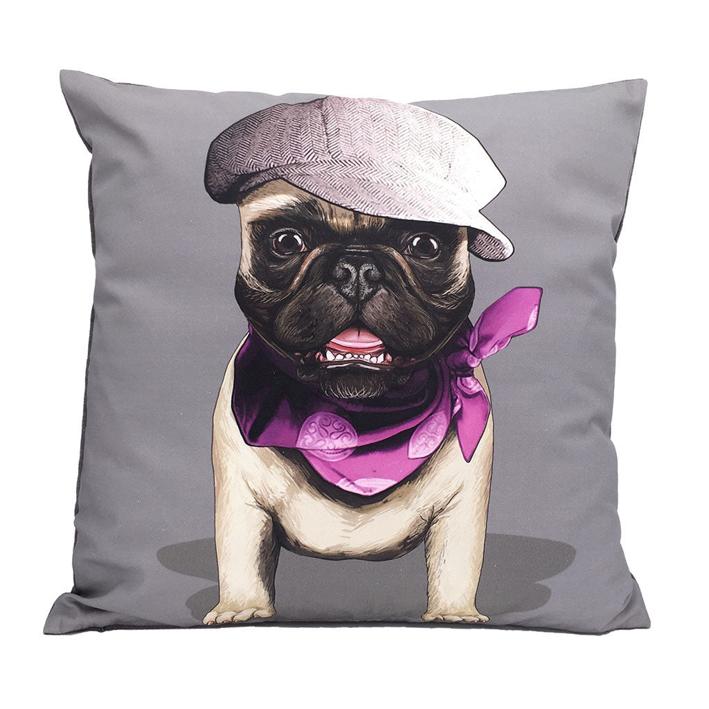 Home Addictions: Cushion Covers - French Pug Cushion Cover, by  Culture Club
