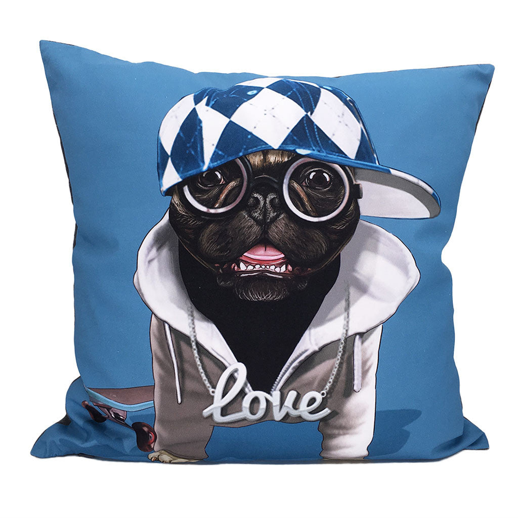 Home Addictions: Cushion Covers - Hip Hop Pug Cushion Cover, by  Culture Club