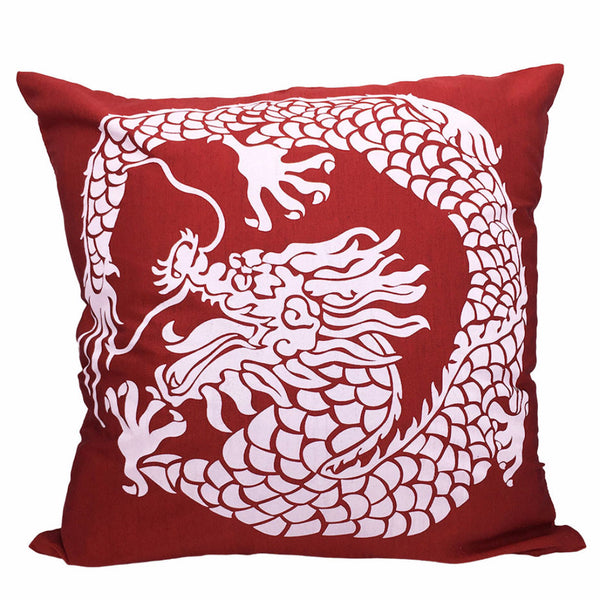 Home Addictions: Cushion Covers - Chinese Dragon Cushion Cover (Red), by  Culture Club