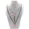 Double Strand Rose Quartz Necklace