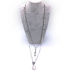 Howlite Heart Pendant Necklace