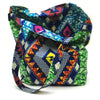 Home Addictions: Lifestyle - Reversable Kente Print Tote Bag Large - Emerald & Sapphire, by  WINAWA