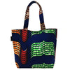 Home Addictions: Lifestyle - Reversable Kente Print Tote Bag Small - Ocean, by  WINAWA