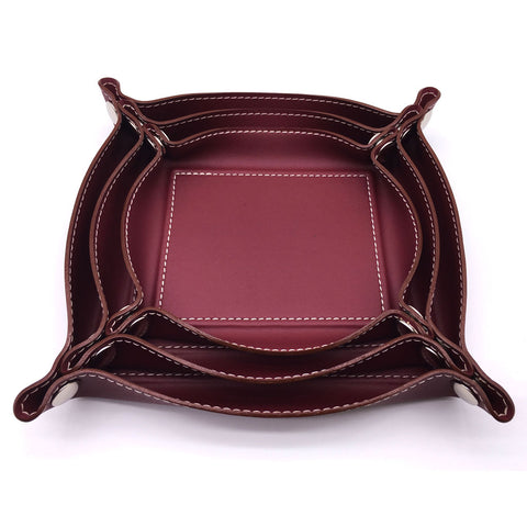 Home Addictions: Trays & Plates - Burgundy Trio Catchall Valet, by  Home Addictions