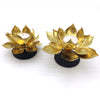 Home Addictions: Candle Holders - Brass Lotus Flower on Metal Base - L, by  Home Addictions