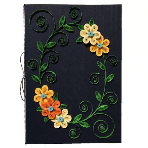 Home Addictions: Lifestyle - Quilling Card- Flower Wreath /Navy, by  Beautiful Paper Quilling