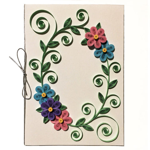 Home Addictions: Lifestyle - Quilling Card- Flower Wreath /White, by  Beautiful Paper Quilling