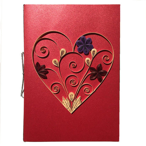 Home Addictions: Lifestyle - Quilling Card- Heart/ Red, by  Beautiful Paper Quilling