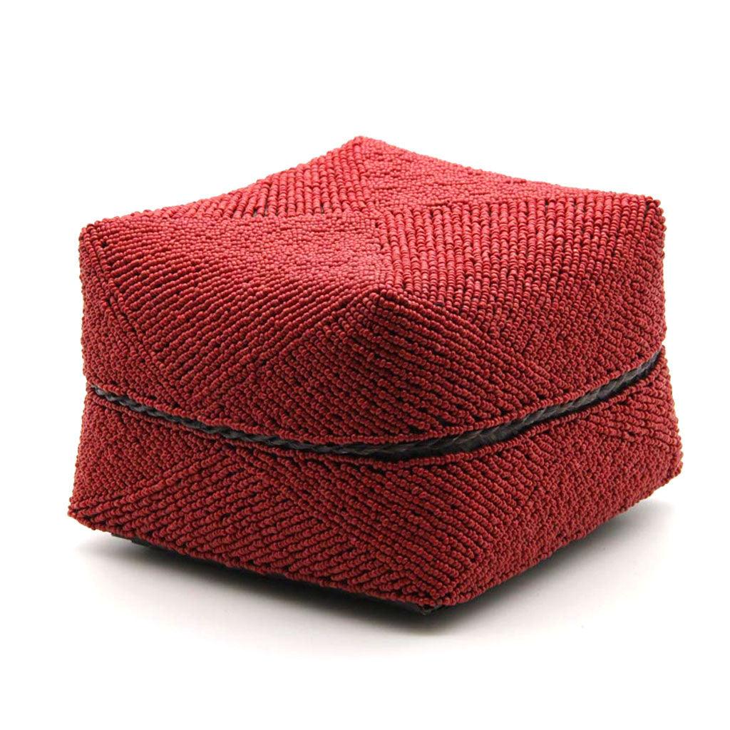Home Addictions: Baskets & Boxes - Hand Stitched Beaded Box - Ruby, by  KOCH