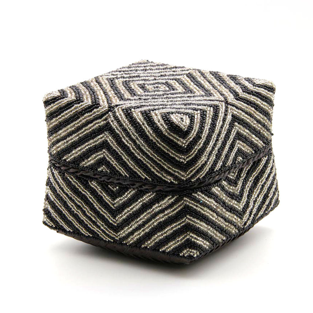 Home Addictions: Baskets & Boxes - Hand Stitched Beaded Box - Diamond, by  KOCH