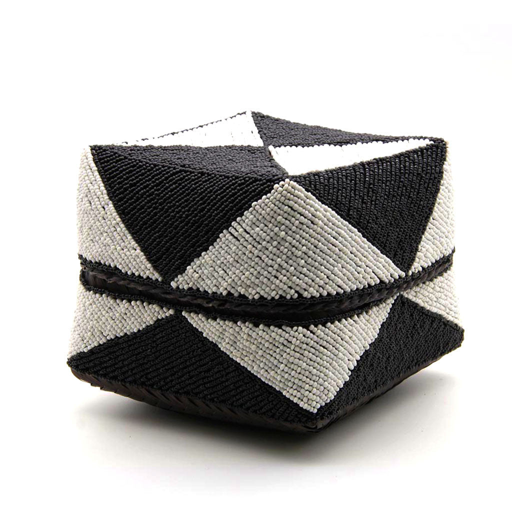Home Addictions: Baskets & Boxes - Hand Stitched Beaded Box - Geometric, by  KOCH