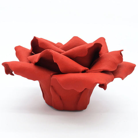 Home Addictions: Candle Holders - Ceramic Rose Candlestick Holder (Passionate Red), by  Kiddee Tamdee