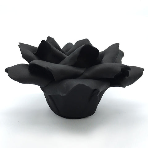 Home Addictions: Candle Holders - Ceramic Rose Candlestick Holder (Tuxedo Black), by  Kiddee Tamdee