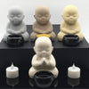 Home Addictions: Candle Holders - Monk Candle Holders - Glossy Cream (Sitting), by  Meelarp Ceramics