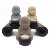 Home Addictions: Candle Holders - Monk Candle Holders - Natural (Slate), by  Meelarp Ceramics