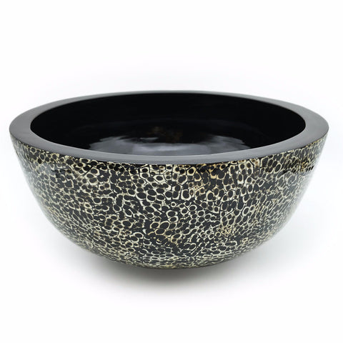 Home Addictions: Bowl - Lacquer Ophidian Hat Bowl (Black/Amber), by  O'thentique