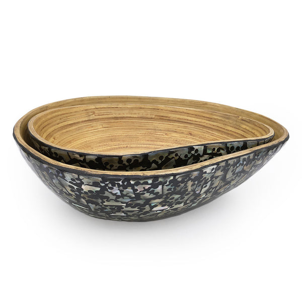 Home Addictions: Bowl - Nested Mango Shaped Bamboo Bowl Set (Black), by  O'thentique