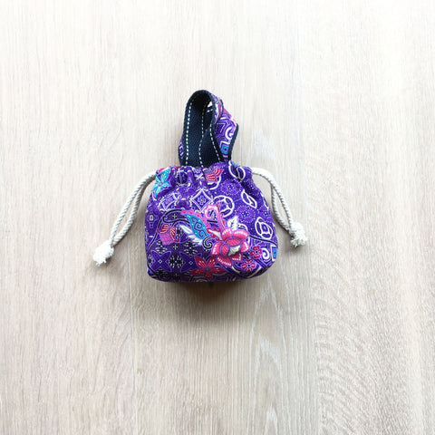 Home Addictions:  - Small Drawstring bag- Purple & Green, by  Penguins Smile