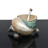 Home Addictions: Sugar & Creamer Sets - Sugar & Creamer Set (Green Tapestry Turban Shells), by  TNV