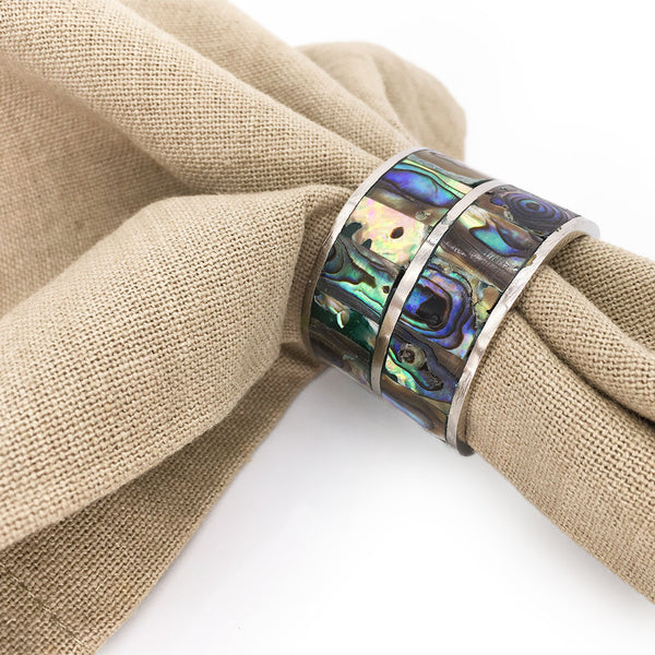 Home Addictions: Napkin Ring Holders - Abalone Shell Napkin Rings (Green), by  TNV