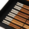 Home Addictions: Utensils - Teakwood and Rhodium Chopstick Box Set - 6 pairs, by  TNV