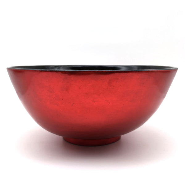 Lacquer Glazed Round Bowl Chinese Red