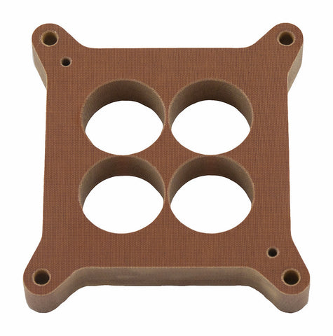 "Model 5015 - Holley 750 - 1"" Phenolic 4-Hole Carb. Spacer - STRAIGHT Bores"