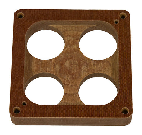 "Model 5070 - Holley 4500 Dominator - 1"" Phenolic 4-hole top ""STANDARD OPEN""  bottom Carb Spacer"