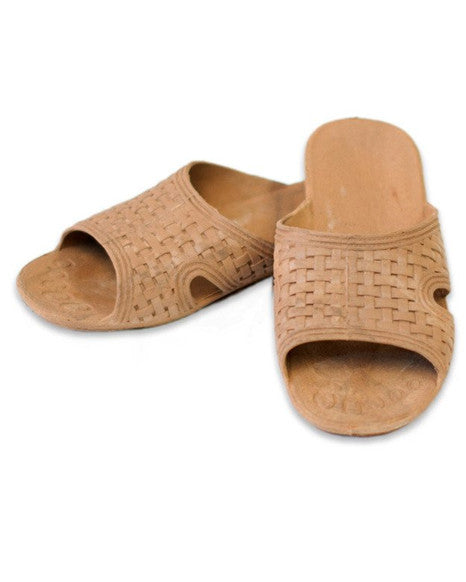Tan PVC Shower Shoes