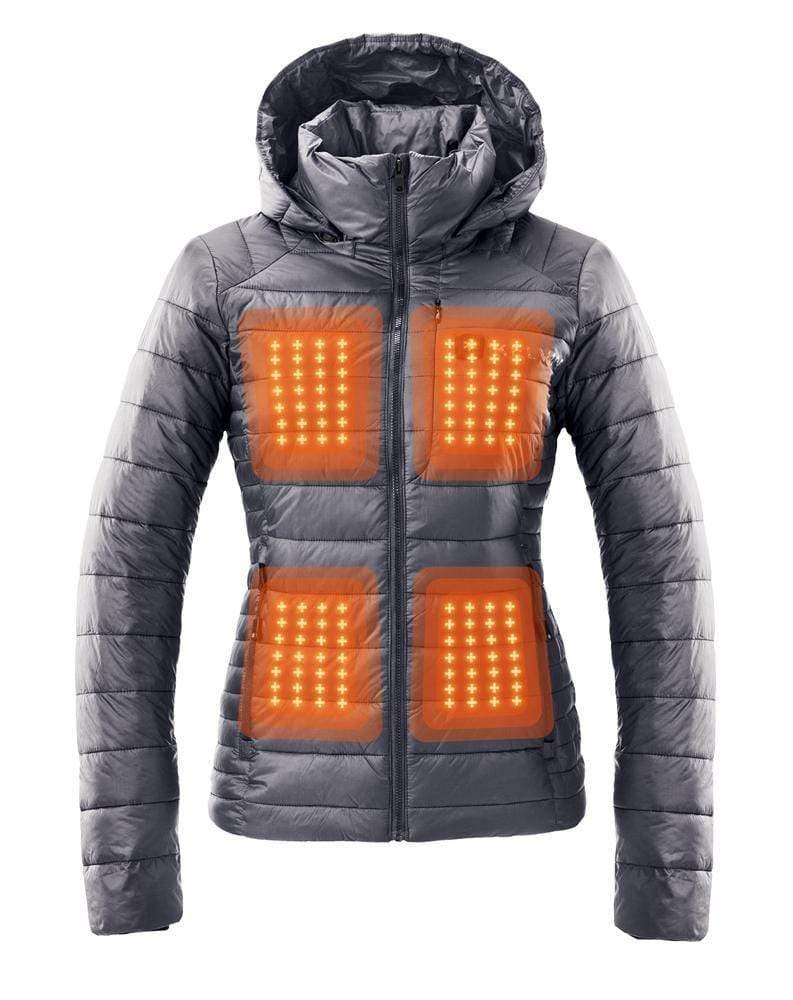 Aura Women's Heated Jacket | Graphite Grey