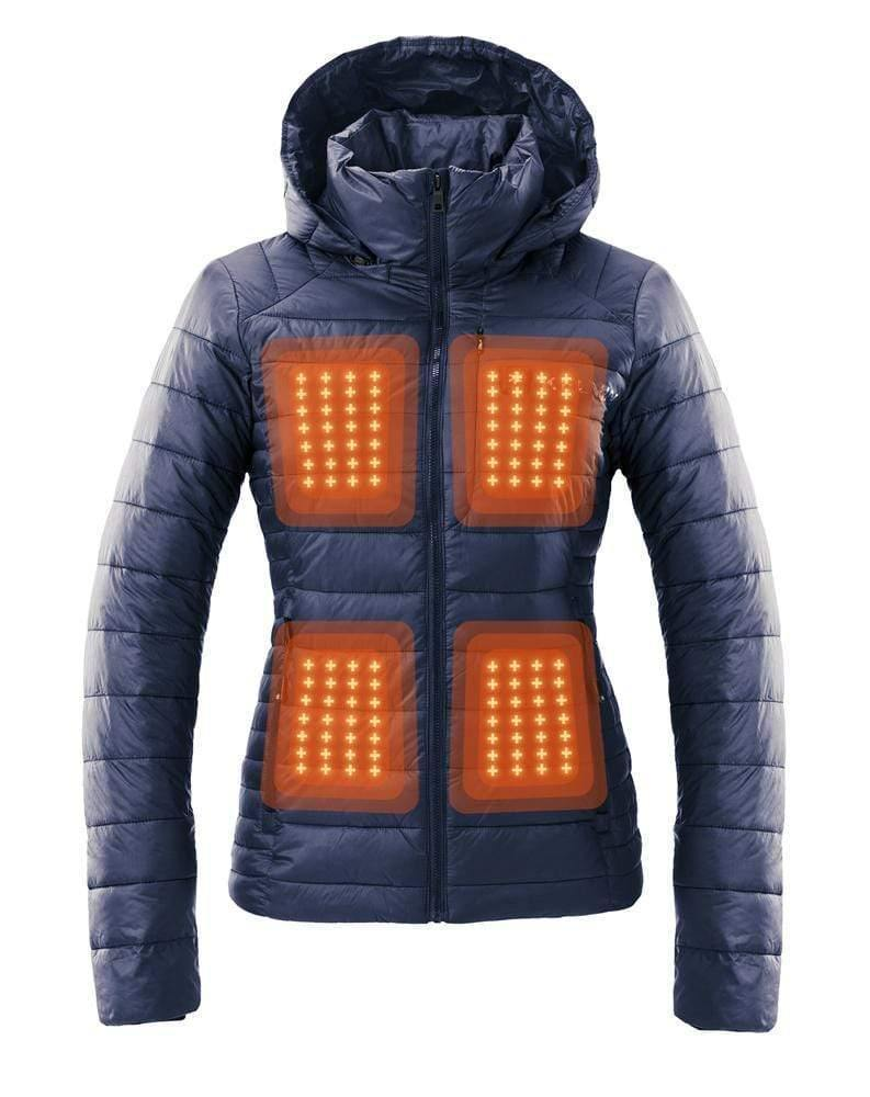 Aura Women's Heated Jacket | Space Blue