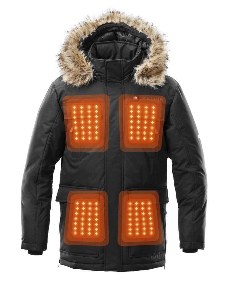 Kelvin Coats Heated Jacket Howard Men's Heated Jacket | Black