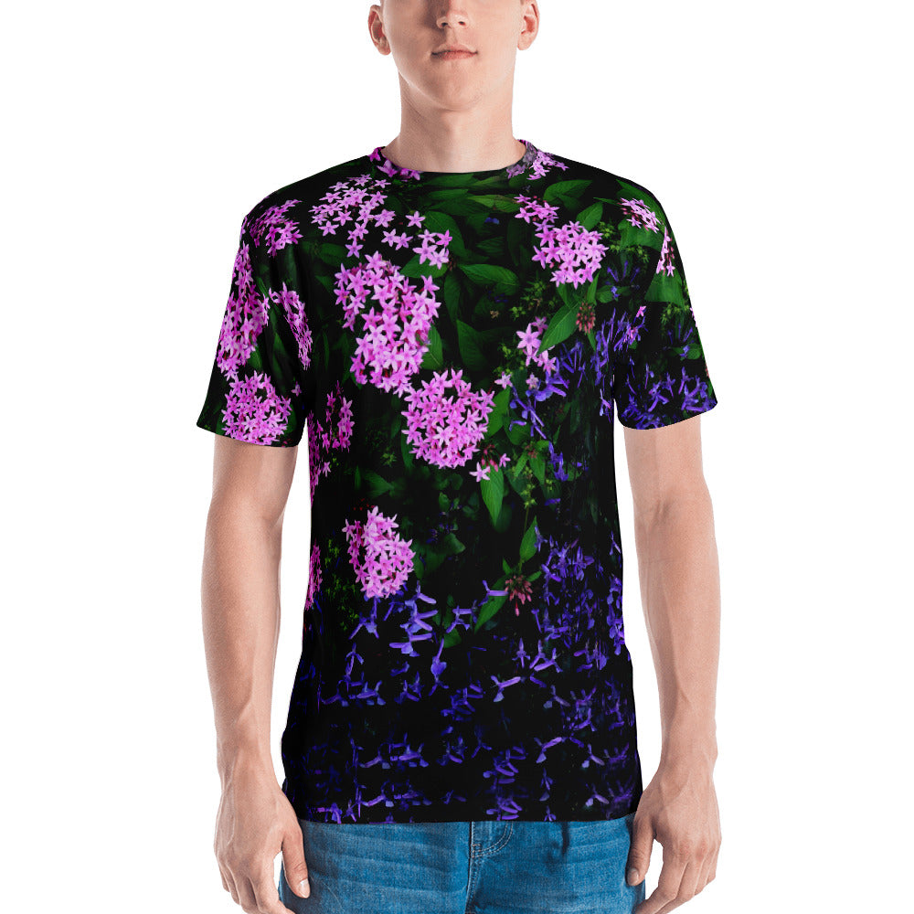 All-Over Micro Floral Printed TeeShirt - Argentous Kim