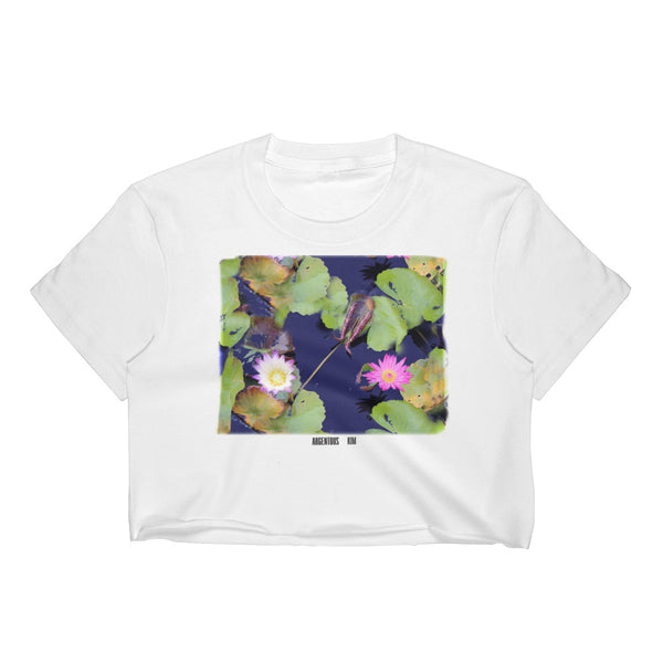 Twin Flowers Crop Top - Argentous Kim