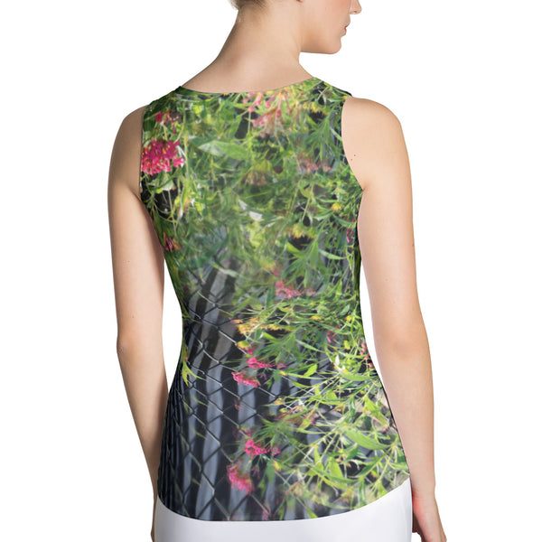Zebra Greens Sleeveless Top - Argentous Kim