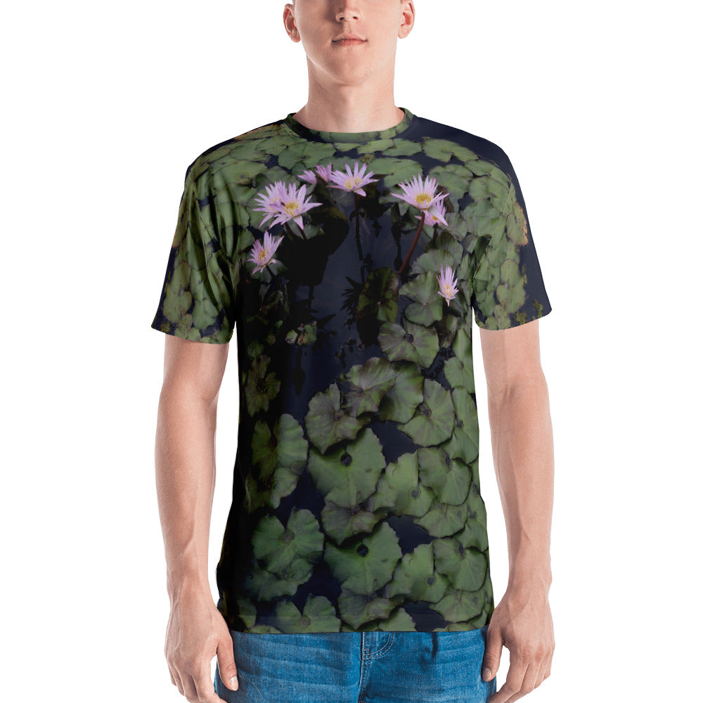 All-Over Water Lillies TeeShirt - Argentous Kim
