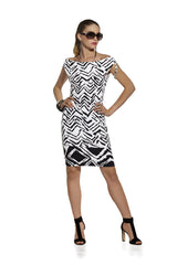 Roidal - Geometric Veronic Dress