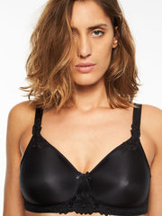 Chantelle Hedona Non Wired Full Cup Bra - Black Soft Cup Bra Chantelle